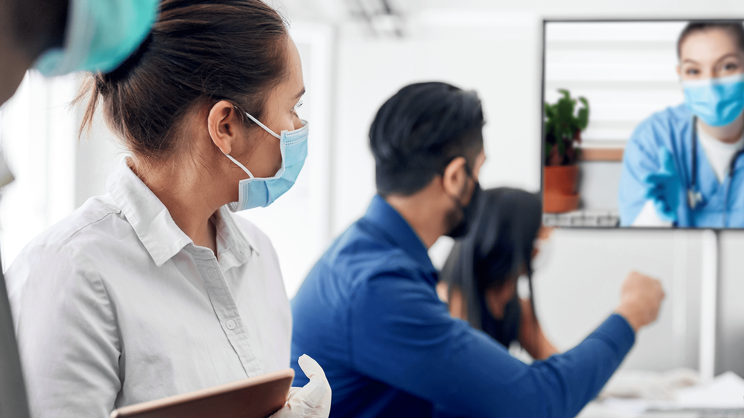 Virtual collaboration with a physician