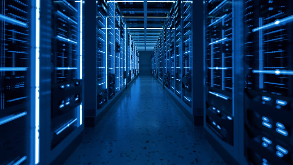 Image of servers at a secure data center