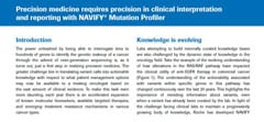 Partial image of white paper cover: Precision medicine requires precision in clinical interpretation and reporting with NAVIFY® Mutation Profiler