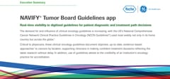 Partial image of information sheet about NAVIFY Guidelines app